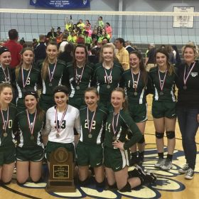 8th Grade Volleyball Team Placed 2nd at State!