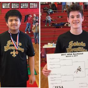 Congrats to our CTK wrestlers who placed in sectionals!